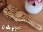 Wooden hairbrush Lynx