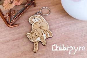 Striped Cat Keychain by ChibiPyro