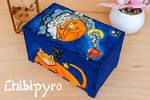 Painted Cat Box