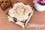 Hugging Cats Wooden Box