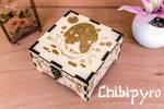 Gazing Cat Wooden Box