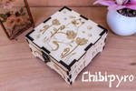 Flower Cat Wooden Box by Moonyzier