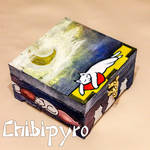 Dreamy Cat Painted Box