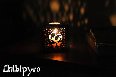 Pisces hardboard lantern by ChibiPyro