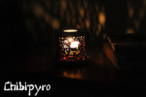 Leo hardboard lantern by ChibiPyro