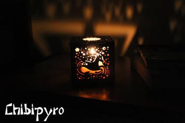 Capricorn hardboard lantern by ChibiPyro