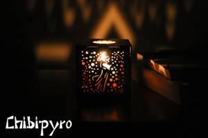 Aquarius hardboard lantern by ChibiPyro