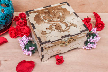 Dragons wooden box by ChibiPyro