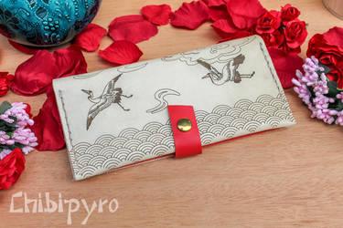 Japanese Print Crane Wallet