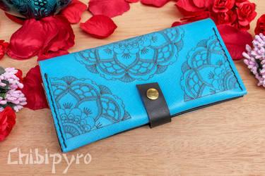 Turquoise Mandala Wallet by ChibiPyro