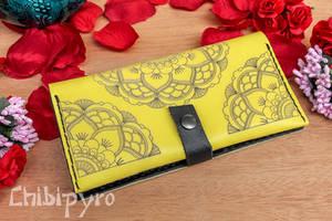 Yellow Mandala Wallet yellow by ChibiPyro
