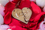 Otter couple keychains