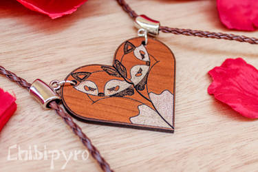 Couple fox charms by ChibiPyro
