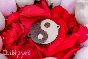 Wooden yin yang charms