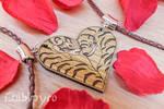 Tiger couple necklace [etsy sale]
