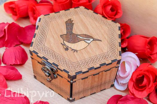Wren celtic zodiac wooden box