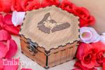 Hawk celtic zodiac wooden box by ChibiPyro