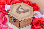 Hawk celtic zodiac wooden box