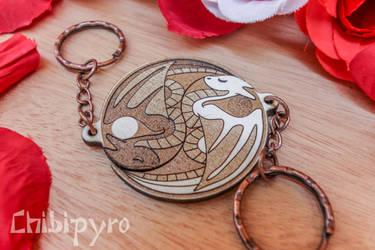 Yin Yang Dragons charm