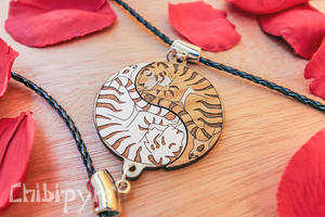 Tiger couple yin yang charms [etsy sale] by ChibiPyro