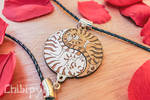 Tiger couple yin yang charms [etsy sale] by Moonyzier