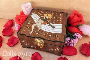 Space Rock wooden box by ChibiPyro