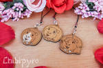 customizable wooden Guinea Pigs charms