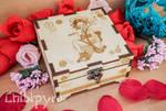 Nekomata square wooden box by ChibiPyro