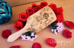 Little fairy wooden hairbrush
