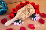 Little fairy wooden hairbrush by Moonyzier
