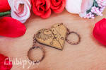 Lion cople heart shaped charms by ChibiPyro