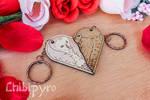 Hawk and barn owl couple keychain [commission]