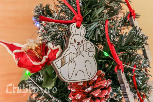 Chubby bunny christmas tree decoration