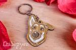 Custom dog headshot portrait keychain [commission] by ChibiPyro