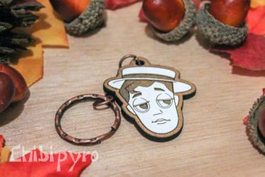 Buster Keaton keychain by ChibiPyro