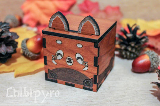 Small Red Panda box wedding party favor