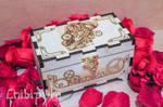 Steampunk heart wooden box