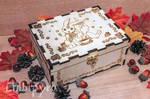 Wooden tea box bunny