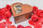 Mama Siamese Cat Heart Box by Moonyzier