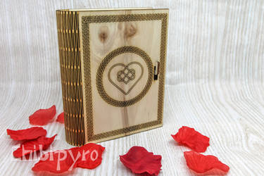 Celtic Heart Wooden Book Box by ChibiPyro