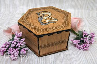 Wolf Celtic Zodiac Box by ChibiPyro
