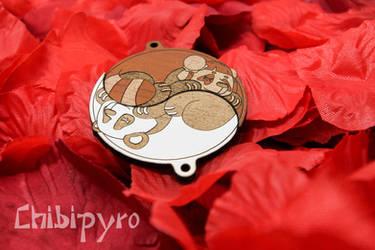 Custom Pandas Yin Yang Charms by ChibiPyro