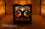 wooden celtic tree of life diy lantern