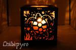 Aquatic life carved lantern Turtle side
