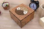 Hedgehogs Yin Yang Mandala box