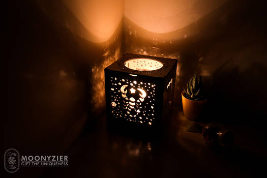 Scorpio wooden lantern