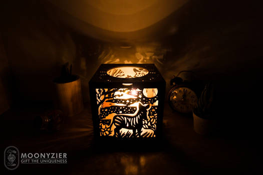 Savannah lantern Zebra side