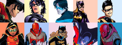 Batkids + Babs by lotsofsparkles1