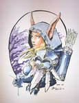 Sylvanas Windrunner Copic Sketch
