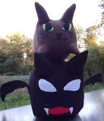 Cat and Bat Geometrical Sewing pattern by dragons011